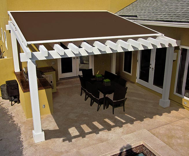 Suncover awning over outdoor patio